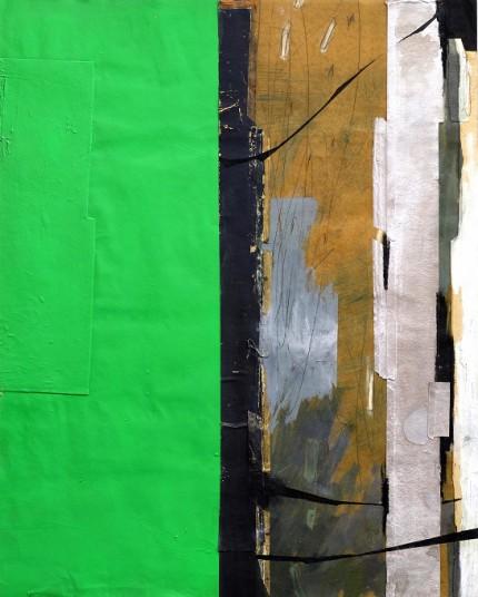鈴木健司(絵画) /  When viewed from the gap , It will look something . 隙間から見上げたら、何か見えるだろうか  2016年